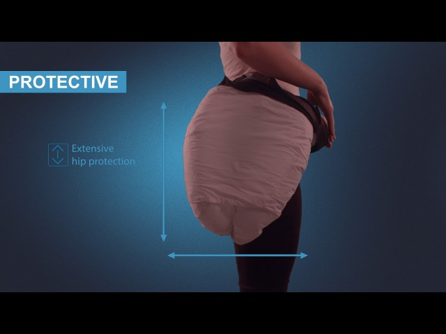 Hip'Air the first wearable airbag hip protector by Helite