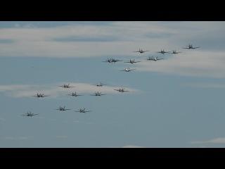 Девятнадцать самолетов Второй мировой войны в небе одновременно.