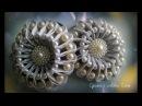 Tutorial Pearly Blossom, Канзаши МК Зефирка с бусинами/Kanzashi DIY Tutorial