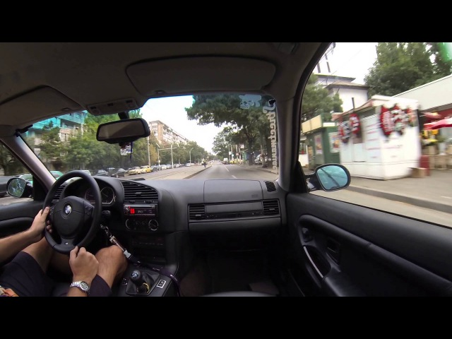 BMW e36 325 - Town Driving using GoPro Hero3 Black
