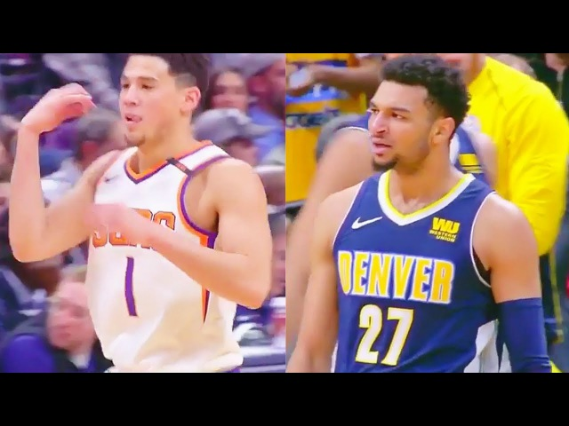 Devin Booker TAUNTS Jamal Murray with his own celebration then gets DUNKED ON!