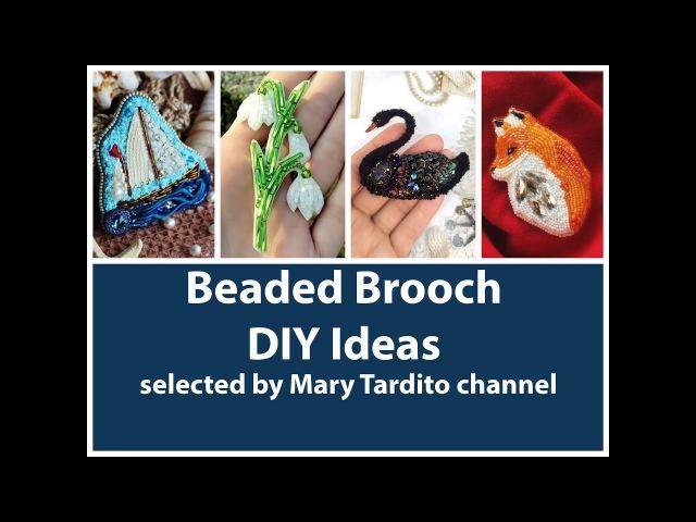 Gorgeous Beaded Brooch Ideas DIY Jewelry Ideas