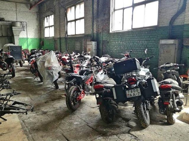 74 брошенных новых мотоцикла банкрота Минск Мото продают прямо с завода