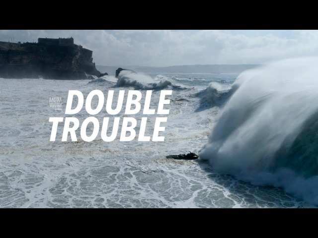 Double Trouble - Big Wave Dramatic Aftermath Sequence Drone - Nazaré, Portugal