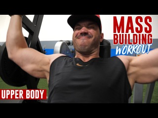 Mass Building WORKOUT - Upper Body Routine (5 Exercises)