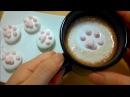 КАК сделать кошачьи лапки из зефира для кофе Рецепт маршмеллоу