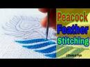 Hand Embroidery Peacock feather   design   Hand work   Aari work