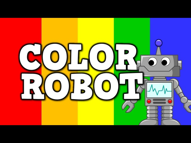 Color Robot- (a cool song for kids about colors)