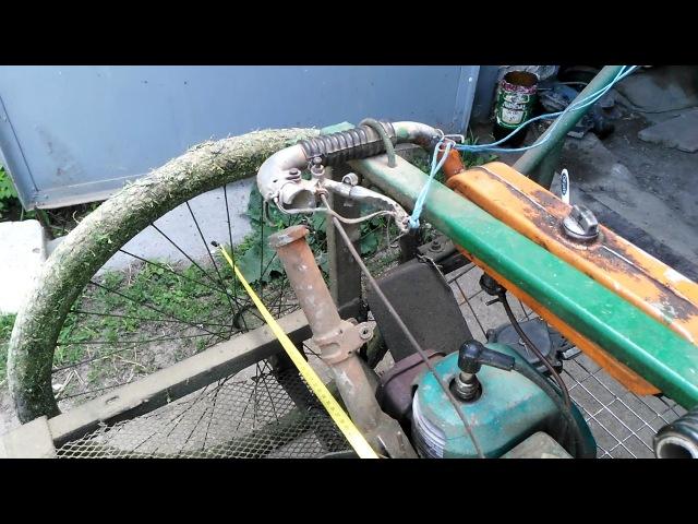 Устройство самодельной роторной косилки из бензопилы Урал 2