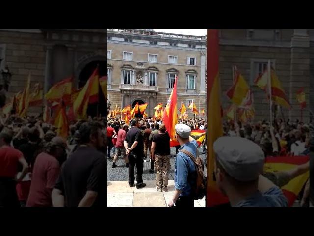 Barcelona legionarios plantan cara a la generalitat de cataluña que pertenece a españa