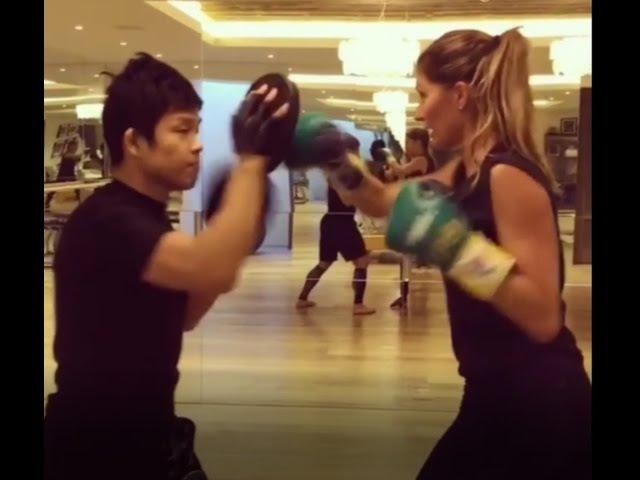 Sexy Gisele Bündchen Ready for Boxing - Tom Brady Next ?