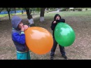 Orange and green balloon 2 - blow to pop