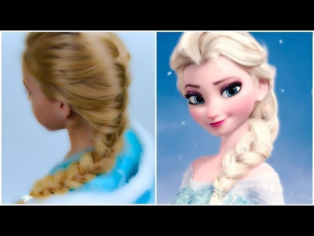 Frozen Elsa's Braid. Halloween 2017. Quick and Easy hairstyle for little pricess 41