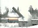 Запуск ракеты с ядерного поезда-призрака Баргузин