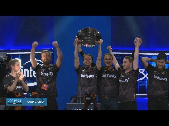 NiP champion 3:2 vs FaZe Clan 🏆 Intel Extreme Masters XII - Oakland champions CyberWins