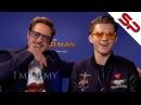 Том Холланд и Роберт Дауни Мл заваливаются к друг другу на интервью