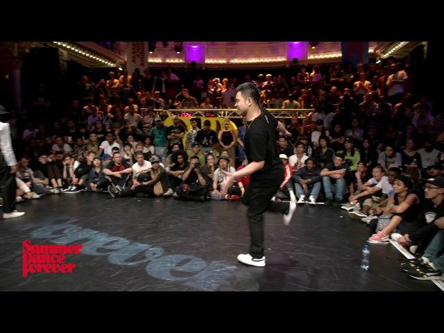 Angyil McNeal vs Hozin JUDGE BATTLE Popping Forever - Summer Dance Forever 2017