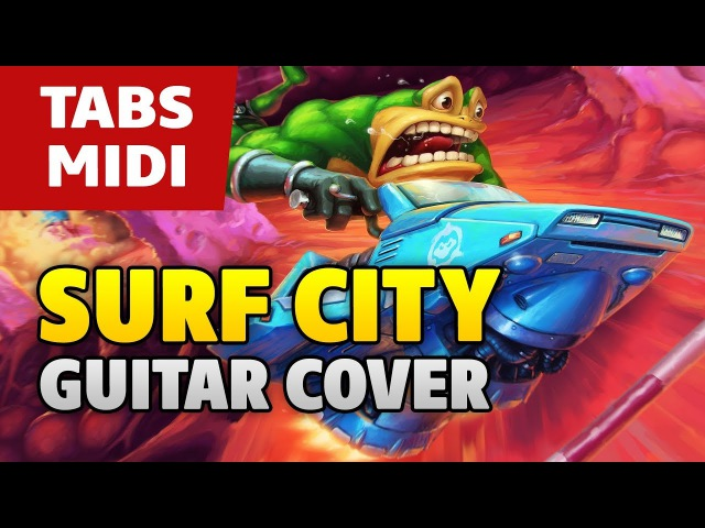 Battletoads OST (NES Game) – Surf City (acoustic fingerstyle guitar TABS and MIDI by Kaminari)