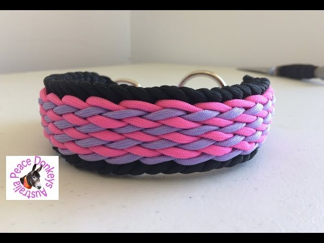 Wavy falls paracord dog collar instructions