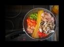 Спагетти с курицей по итальянски ВКУСНАЯ ПАСТА Рецепт приготовления в одной посуде