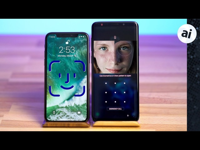 Face ID vs Intelligent Scan - iPhone X vs S9 Plus