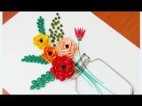 Paper Quilling Flower For beginner Learning Video 22 Paper Flower Design