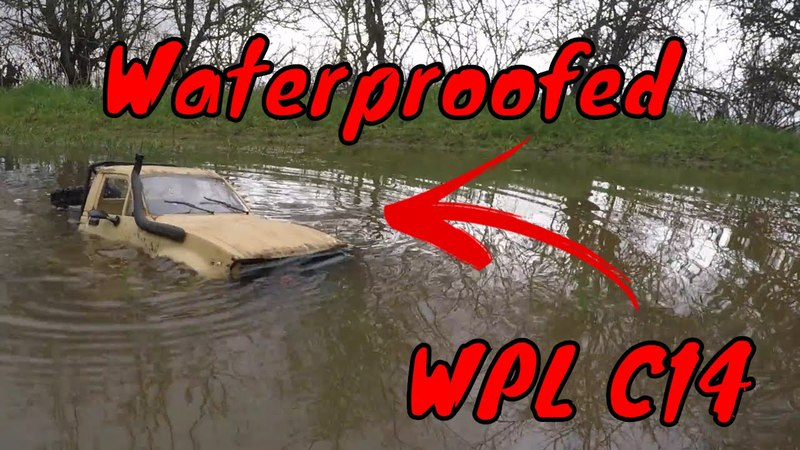 WPL C14 $30 RC Truck. Waterproofed 2s Lipo Upgrade. Submerged