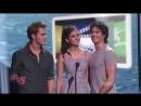 Йен Сомерхолдер, Нина Добрев и Пол Весли на Teen Choice 2011 с рус. субтитрами