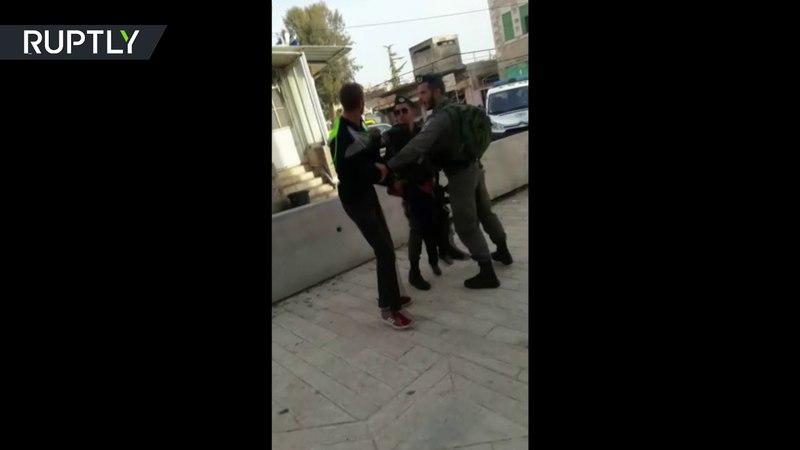 RAW IDF detain a three year old in Hebron