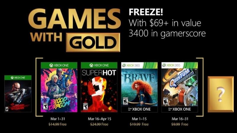 SUPERHOT и Trials of the Blood Dragon в мартовской подборке Xbox Live Gold