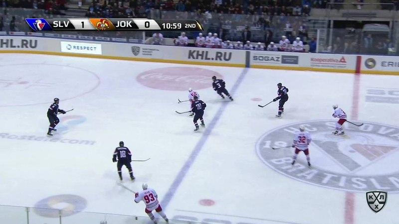 Моменты из матчей КХЛ сезона 17 18 • Удаление Джонатан Чичу Слован наказан малым штрафом за задержку клюшкой 15 11