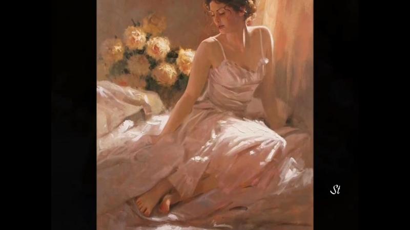 Clayderman - Serenade, Schubert and Richard S.Johnson - paintings.mp4