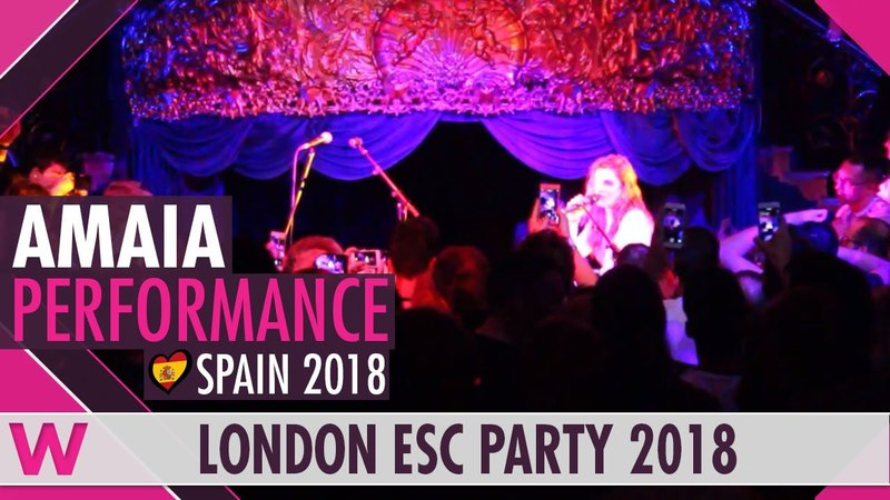 "Amaia covers El Kanka's ""Insteucciones Para Bailar Un Vals"" LIVE @ London Eurovision Party 2018"