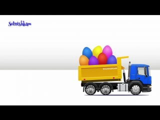 Мультики про машинки учим фрукты яйца с сюрпризом грузовичок trucks сборник мультфильмов