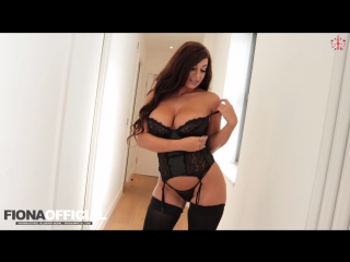 Fiona siciliano big tits in black underwear all sex striptease solo tights panties