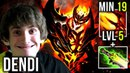 Dendi Shadow Fiend LOL New Build? Dagon LVL 5 Etheral Blade - New Style in Unranked Dota 2