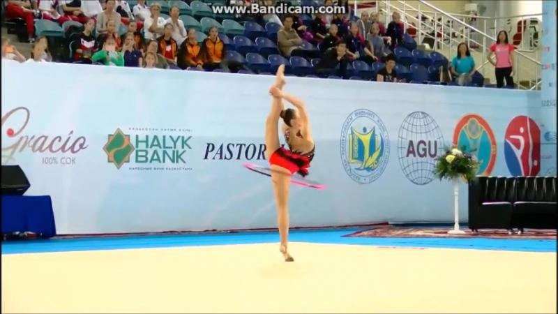 Сабина Аширбаева - обруч Asian Championships, Astana, Kazakhstan - 24 - 27.06.2017