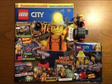 Обзор нового журнала Lego City #2 за 2018 год Шахтёр и его Техника