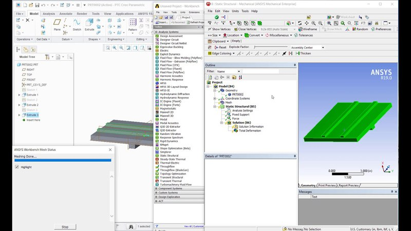 Using Creo Parametric and ANSYS efficiently