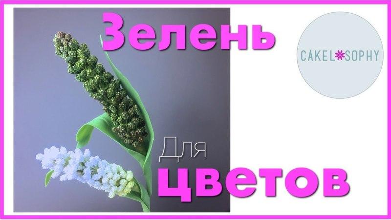 ЛИСТВА для Цветов Из Холодного Фарфора или Сахара Зеленое Просо