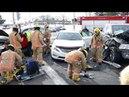 DDO: Firemen cut door at multi-car crash on Des Sources 3-15-2018