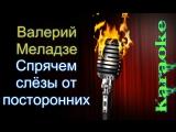 Валерий Меладзе -Спрячем слезы от посторонних ( караоке )