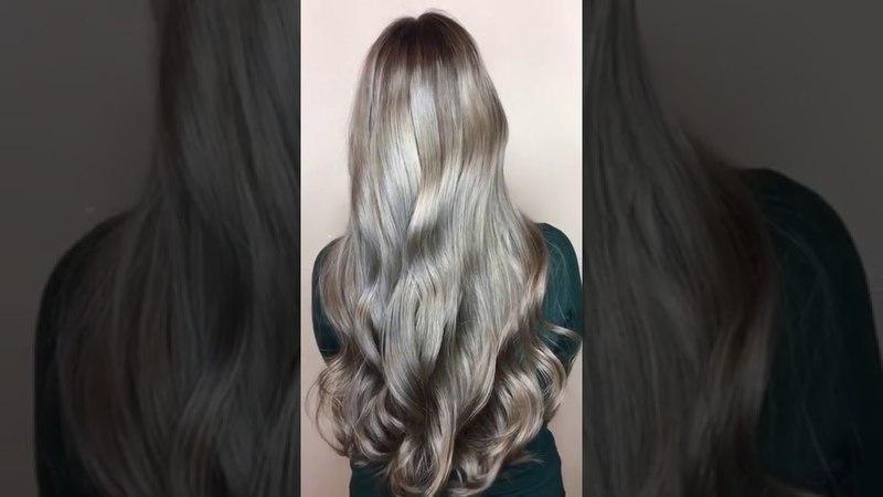 Модное окрашивание волос Ash-blond Metallic от KIS. Семинары.