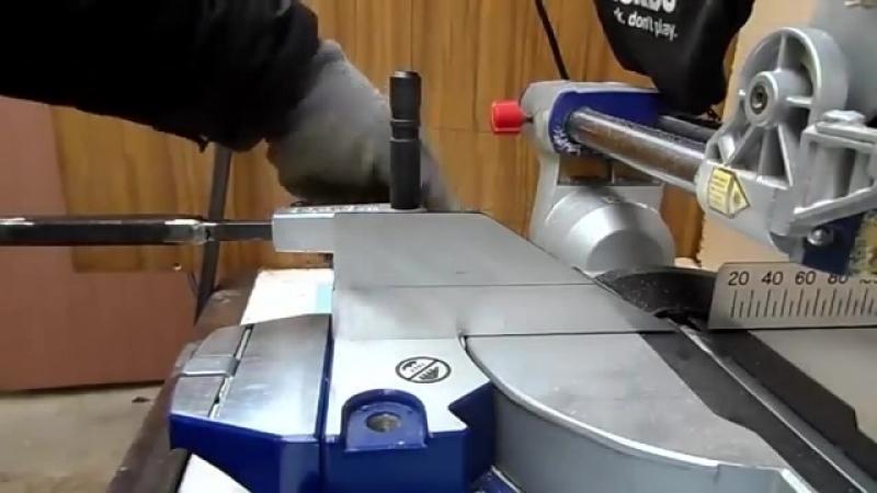 Самодельное приспособление для шкантов Модернизация торцовочного углореза сделай сам