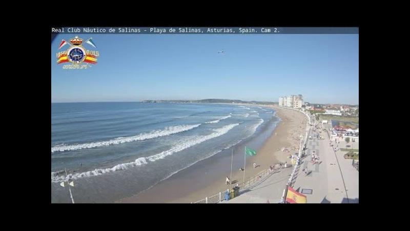 Real Club Náutico de Salinas Playa de Salinas Asturias Spain Cam Este