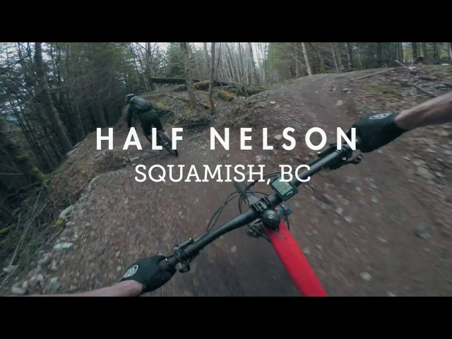 Mountain Biking Half Nelson flow trail, the crown jewel of Squamish, BC