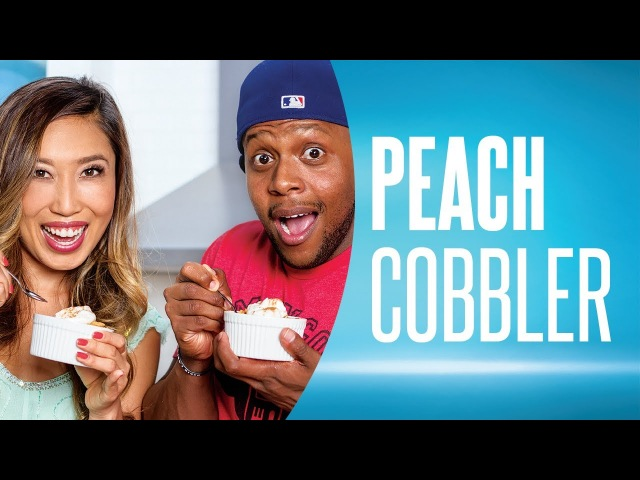 Easy Peach Cobbler Recipe ft. FitMenCook Blogilates