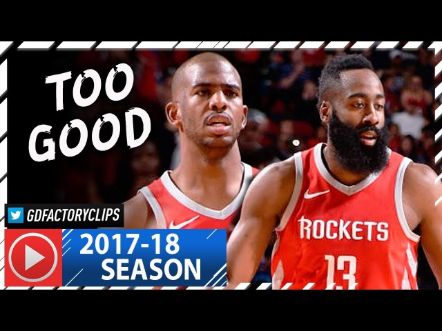 Chris Paul James Harden Full Highlights vs Warriors (2018.01.20) - 55 Pts Combined, NASTY!