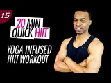 20 Min. Fat Burning Yoga Infused Cardio HIIT Workout for Weight Loss  20 Min. Quick HIIT #15