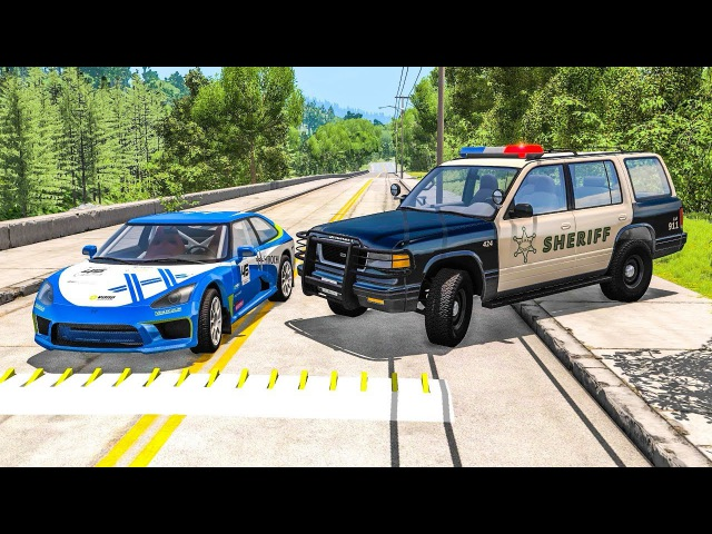 Полиция останавливает машины шипами Лучшие моменты полицейских засад Мультик игра для мальчиков